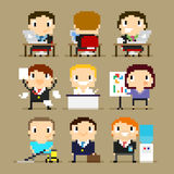 Pixel Office Royalty Free Stock Images