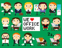 Pixel Office People Royalty Free Stock Photo