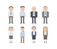 Pixel Office People Set Stock Photo