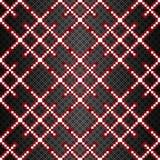 PIXEL på en geometrisk sömlös modell för svart bakgrund Royaltyfri Bild