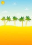 Pixel palm landscape Royalty Free Stock Images