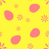 The pixel pattern of eggs and flowers  Stock Photo