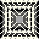 Pixel pattern on a gray background vector illustration