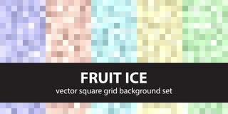 Pixel pattern set Royalty Free Stock Image