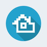 Pixel pc icon. Vector illustration of single isolated pixel pc icon vector illustration