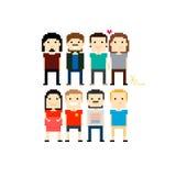 Pixel People Royalty Free Stock Photos