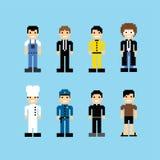 Pixel people avatar set Royalty Free Stock Photography