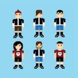 Pixel people avatar set Stock Image