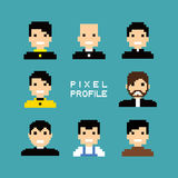 Pixel people avatar set Stock Photo