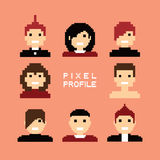 Pixel people avatar set Stock Photography