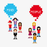 Pixel people Royalty Free Stock Images