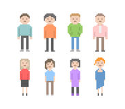 Pixel People Set Stock Photo