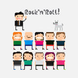 Pixel People Royalty Free Stock Photography