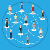 Pixel people social connection Royalty Free Stock Photos