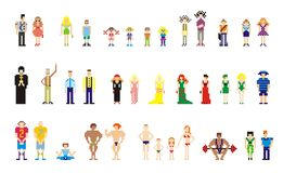 Pixel people for web Stock Photos