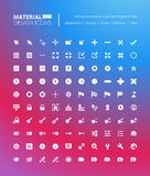 Pixel perfect solid material design icons. Set of premium quality icon for navigation, settings, buttons and toggles Royalty Free Stock Photography