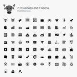 Pixel-perfekte Ikonen des Geschäfts-73 und der Finanzierung Stockfotos