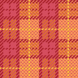 Pixel-Plaid in der Orange und im Rosa Stockfotografie