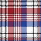 Pixel plaid fabric seamless check pattern. Flat design. Vector illustration stock illustration