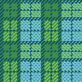 Pixel-Plaid in Grünem und in Blauem Lizenzfreies Stockfoto
