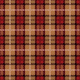 Pixel Plaid_Red-Gold Fotos de Stock Royalty Free