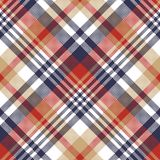 Pixel plaid textile tartan seamless pattern. Vector illustration stock illustration