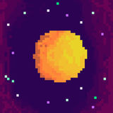 Pixel planet. For games and applications. Cute 8-bit planet Stock Illustration