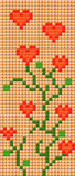 Pixel plants. Backgound, plants from hearts and squares Royalty Free Stock Image