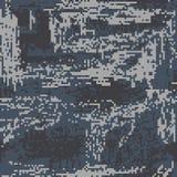 Pixel protettivo di colorazione di marrone del cammuffamento del modello senza cuciture fotografia stock