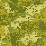 Pixel protettivo di colorazione di marrone del cammuffamento del modello senza cuciture royalty illustrazione gratis