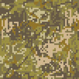 Pixel protettivo f di colorazione di marrone del cammuffamento del modello senza cuciture royalty illustrazione gratis