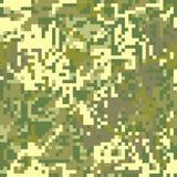 Pixel protettivo f di colorazione di marrone del cammuffamento del modello senza cuciture illustrazione di stock