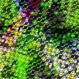 Pixel psychedelisch abstract geometrisch patroon royalty-vrije illustratie