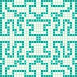 Pixel psychedelisch abstract geometrisch patroon stock illustratie