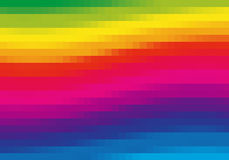 Pixel rainbow. Background from rainbow squares. Safe for CMYK printing vector illustration