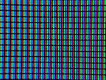 Pixel reali del computer, zoom fotografia stock libera da diritti