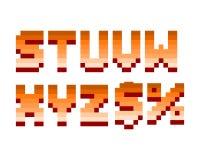 Pixel retro font computer game design vector illustration Stock Photo