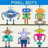 Pixel Robot. Easy to edit vector illustration of pixel robot vector illustration