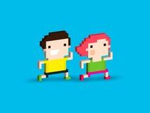 Pixel Runners Stock Image