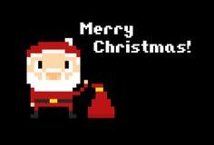 Pixel Santa Background Stock Photo