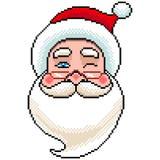 Pixel Santa portrait detailed illustration isolated vector. Pixel art Santa portrait detailed illustration isolated vector royalty free illustration