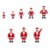 Pixel Santa vector illustration