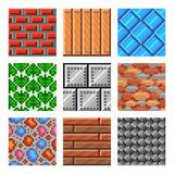 Pixel Seamless Textures For Games Icons Vector Set Royalty Free Stock Photo