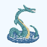 Pixel-Seedrache Lizenzfreie Abbildung