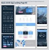 Pixel sensible UI parfait calibre mobile d'APP de conception plate et de site Web illustration libre de droits