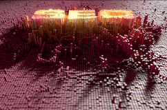 Pixel SEO Concept Stock Afbeelding