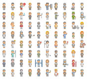 Pixel set of people. Pixel people. 8 bit set for games and design Royalty Free Stock Image