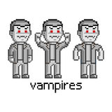 Pixel set vampires Royalty Free Stock Photos
