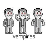 Pixel set vampires Royalty Free Stock Photos