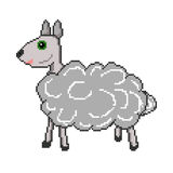 Pixel sheep icon Royalty Free Stock Images